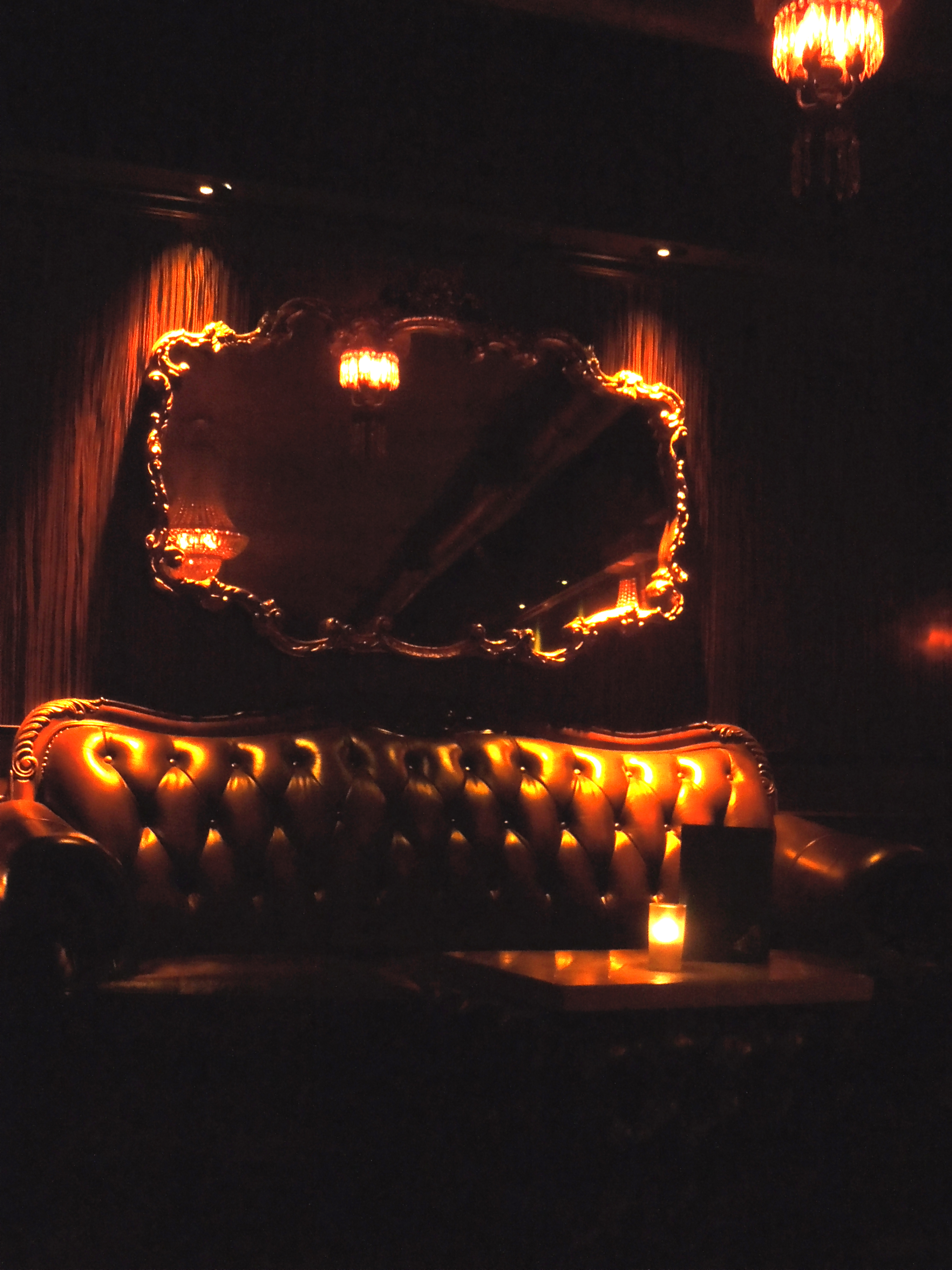The Parlour Room Vintage Lighting for an Intimate Dive Bar  The